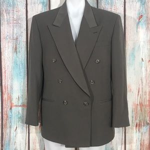 City Streets Wool Blend Double Breasted Blazer